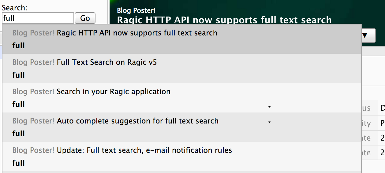 Ragic HTTP API now supports full text search Icon