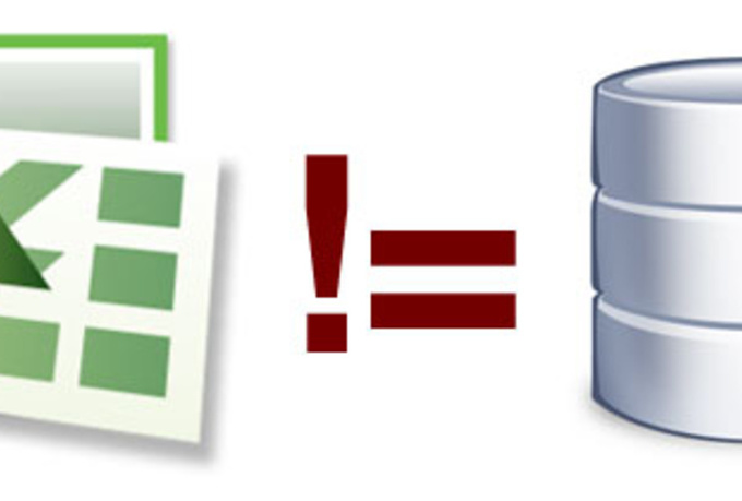 Excel: still not a database. Icon